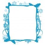 Winter floral frame, vector — Stock Vector