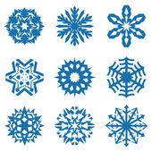 Colección de iconos de los copos de nieve. vector — Vector de stock