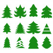Christmas trees — Stock Vector