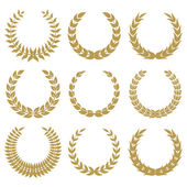 Laurel wreaths 1 — Stock Vector