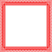 Unique knitted frame with geometric ornament — Stock Vector