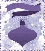 Christmas label or background/card — Stock Photo