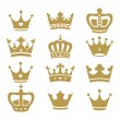 Crown collection - vector silhouette — Stock Vector #37552127