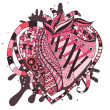 Hand drawn abstract heart — Stok Vektör #37747299