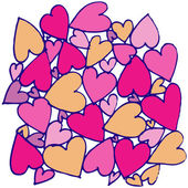 Hand drawn abstract heart — Stock Vector