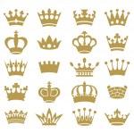Crown collection - vector silhouette — Stock Vector #38117117