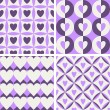 Vector de stock : Seamless vintage pattern with hearts