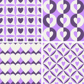 Seamless vintage pattern with hearts — Stock Vector