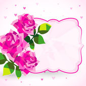 Decorative background or card with roses — Stock Vector