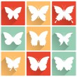 Vector isolated butterflies icons set — Stock Vector #41102127