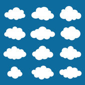 Clouds collection. Cloud shapes pack. Vector. — Stock Vector