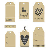 Vector gift tags or labels set — Stock Vector