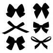 Set of vintage bows — Stock vektor