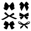 Set of vintage bows — 图库矢量图片