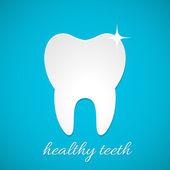 Healthy tooth icon vector — Stock Vector