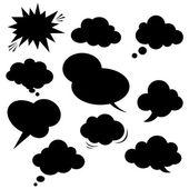 幽默的演讲,泡沫。矢量. — 图库矢量图片