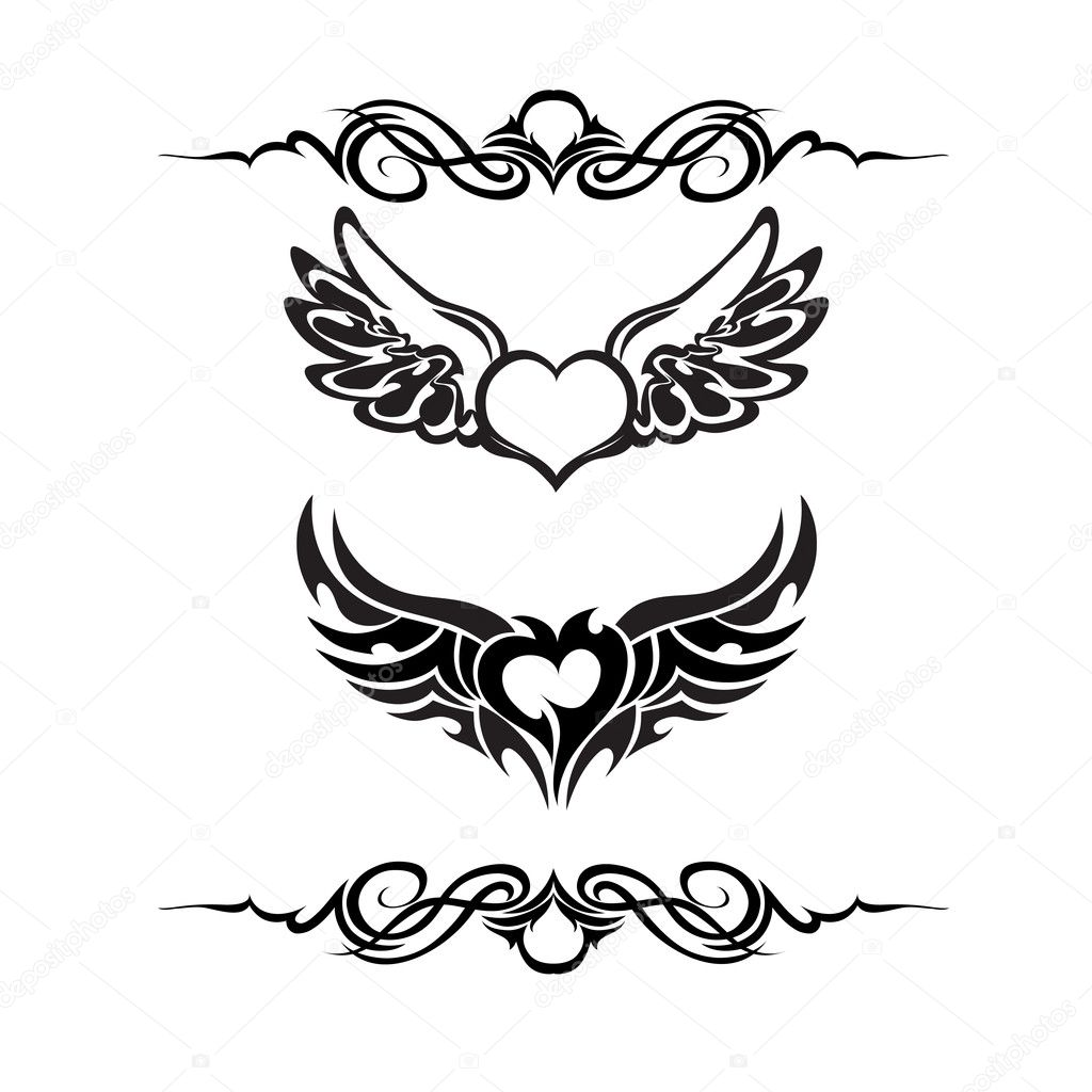 Gothic Heart Tattoos Two different heart tattoos