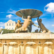 Fountain with mermen - Stock Photo