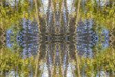 Abstraktní vody a listy tapety — Stock fotografie