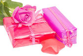 Birthday gifts isolated — Stock Photo