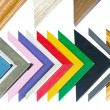Colorful frame samples — Stock Photo