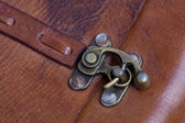 Vintage metal bag lock — Stock Photo