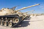 Tank formation deployed — Stock Photo