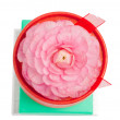 Flower-topped gift boxes - Stock Photo