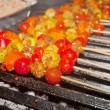 Vegetable barbecue on grill - Stock Photo