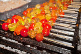 Vegetable barbecue on grill — Stock Photo