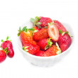 Strawberries over white — Stock Photo