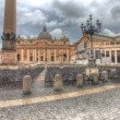 Saint Peter's square in dramatic lighting - Stock Photo