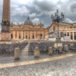 Foto de Stock  : Saint Peter's square in dramatic lighting