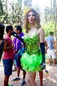 Female Transgender staring in amusement — Stock Photo