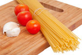 Spaghetti with other ingredients — Stock Photo