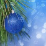Shiny Blue Christmas ball — Stock Photo
