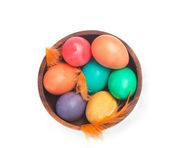 Bowl of eggs from above — Stock Photo