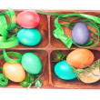 Easter set of handmade eggs — Stock Photo