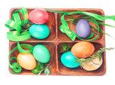 Easter set of handmade eggs — Stock Photo