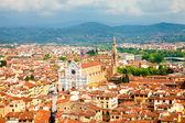Pohled na florencii s santa croce — Stock fotografie