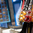 Beaded necklaces in the street market — Stock Photo #6732309
