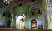 Decoration of interior historical muslim shrine Bara Imambara — Stock Photo