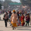 Stok fotoğraf: Crowd of hindu rush to biggest festival in world