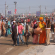 Crowded area at the festival in India — Stock Photo