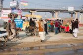 Traffic during the Kumbh Mela — Stock Photo