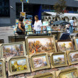Art Fair with the paintings outdoor — Stock Photo #21763473