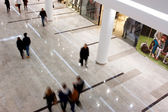 Customers walking around the largest mall — Stock Photo