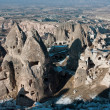 Rock valley in Cappadocia, Turkey. - Stock Photo