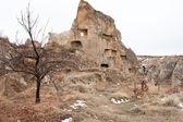 Ruins of the 5-th century village in turkish Cappadocia — Stock Photo