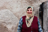Aged woman from turkish village — Stock Photo